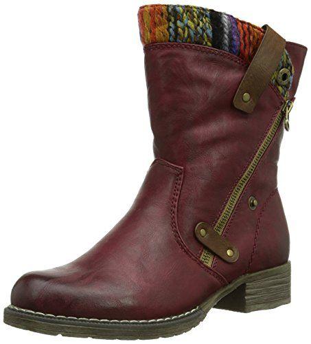 Rieker 95891-35, Women's Biker Boots, Red (Burgundy), 3.5 UK (36 EU)