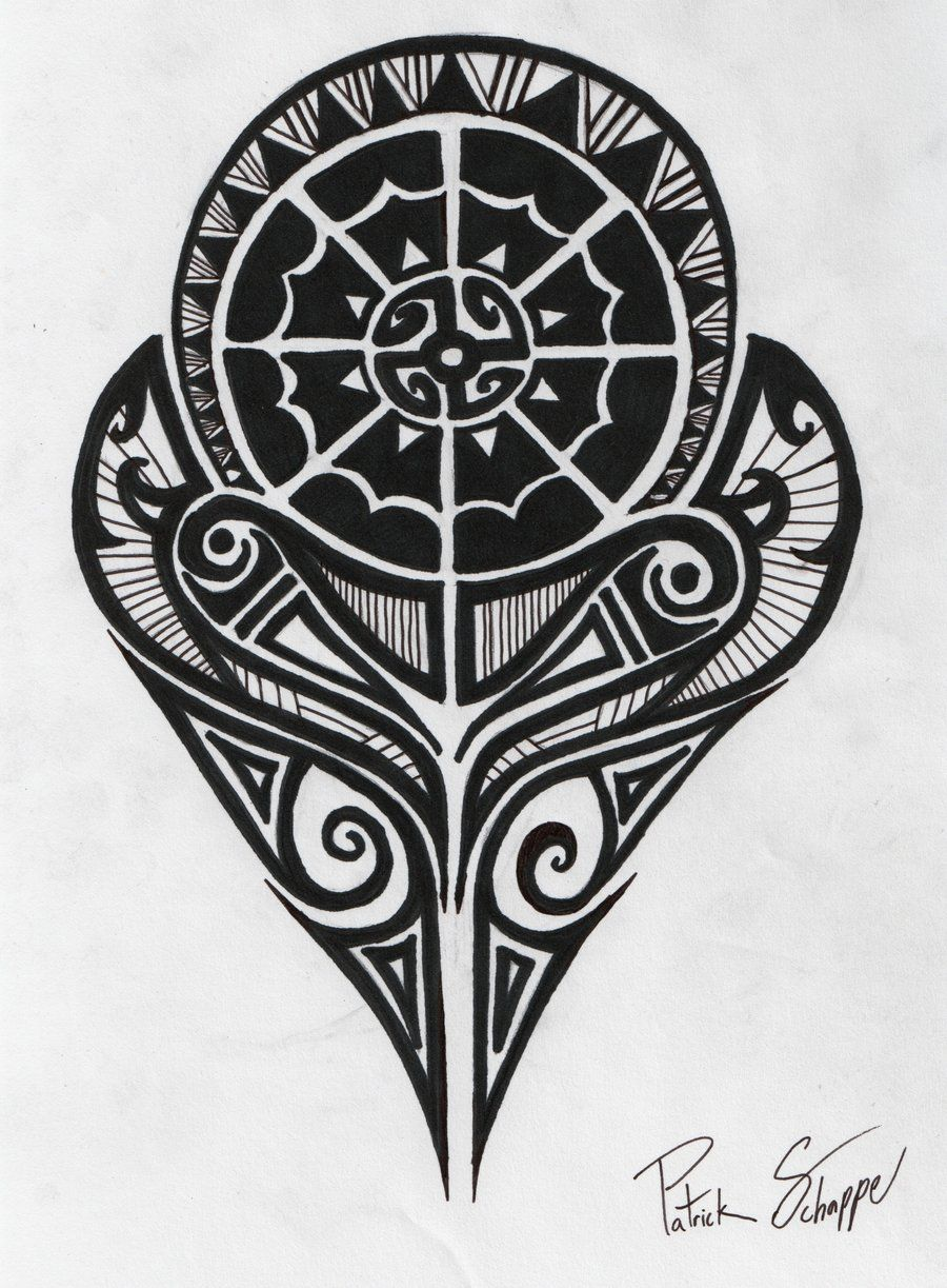 Polynesian Symbols Meanings Polynesian Strength Tattoo By