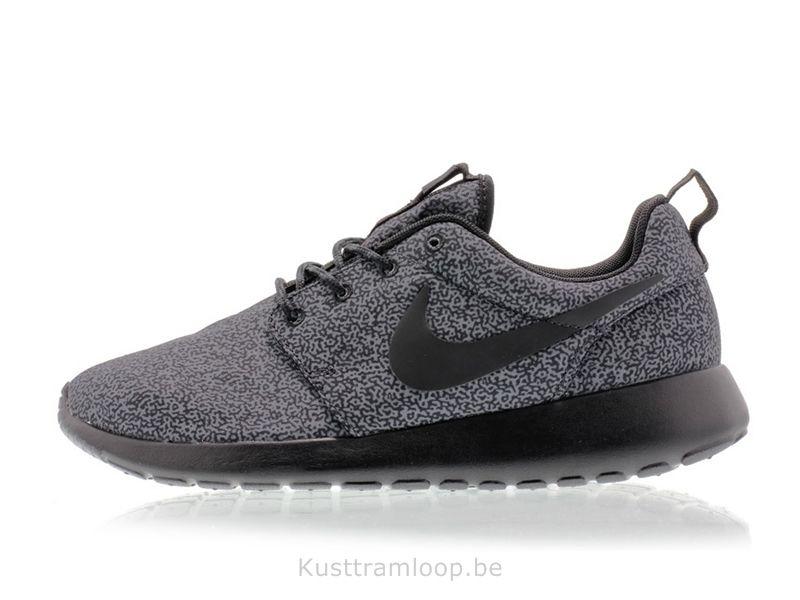 taille 40 5c2e1 7f89e Nike Femme Roshe Run Imprimer Anthracite / Noir-Anthracite ...