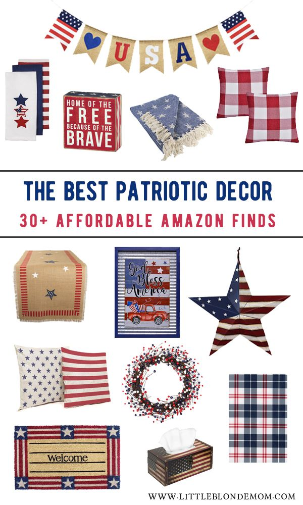 4th of July Decor on Amazon Cute & affordable patriotic