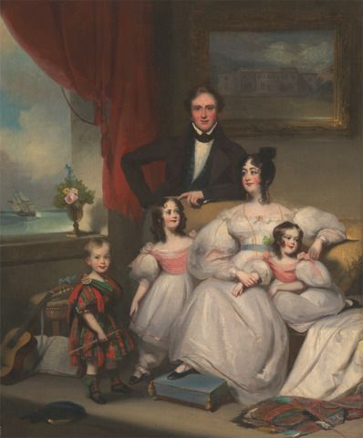 George Chinnery, 1774–1852, British, An English Family in Macao, ca. 1835, Oil on canvas, Yale Center for British Art, Paul Mellon Collection