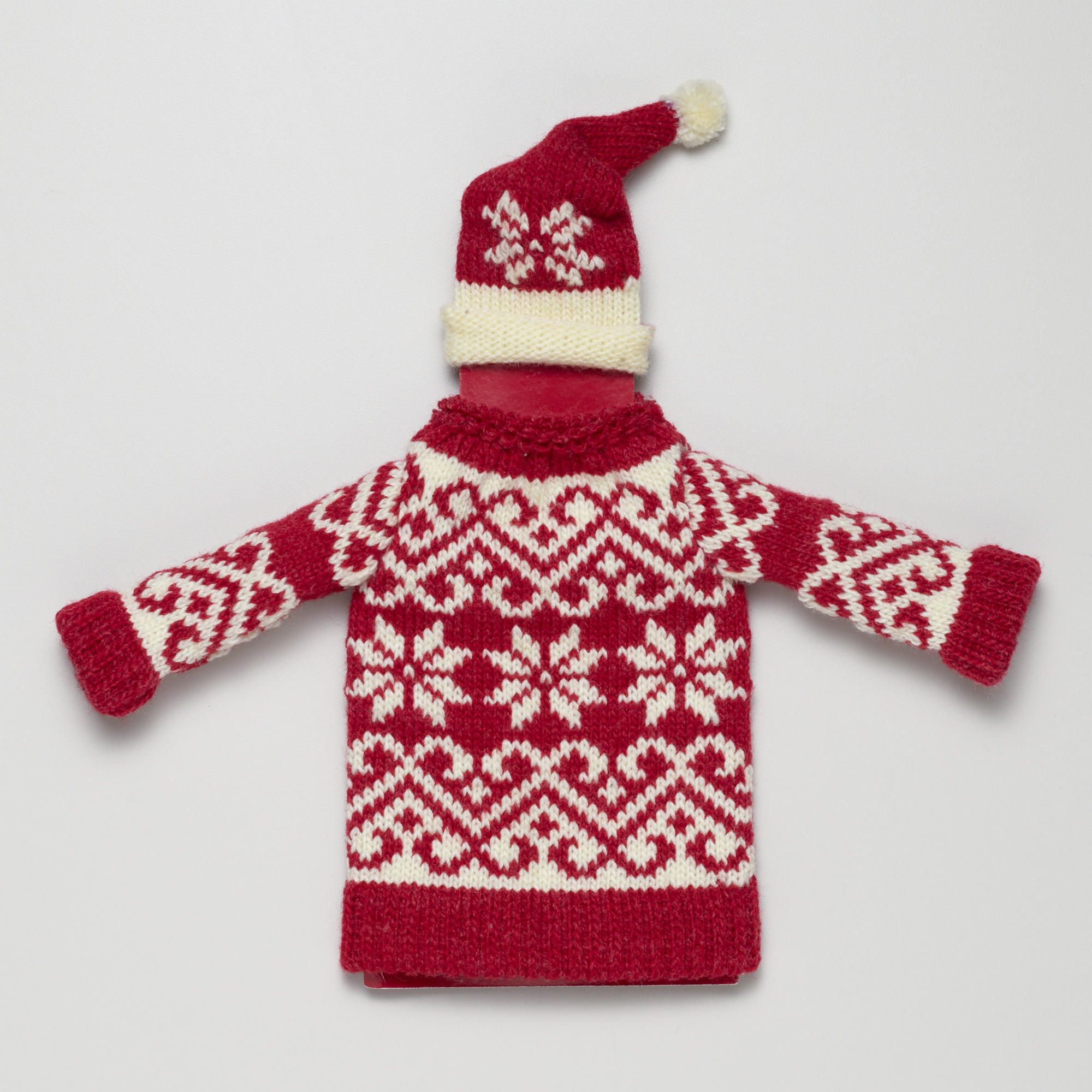 Christmas Hat and Sweater Bottle Topper | World Market