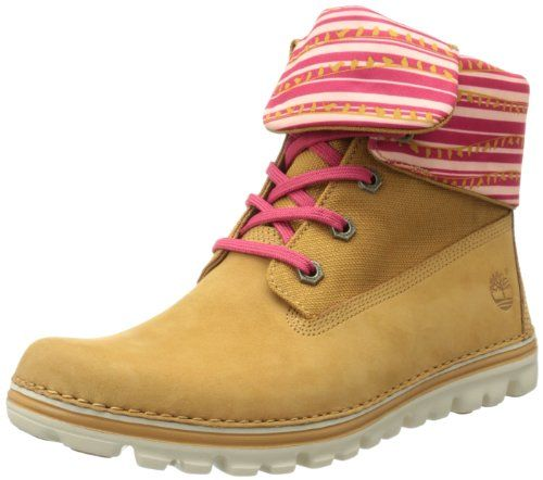 pink timberland roll top womens boots