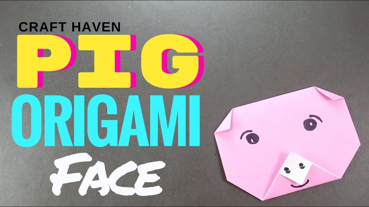 Easy Origami Pig Face - Fun and Quick Origami Tutorial for ...