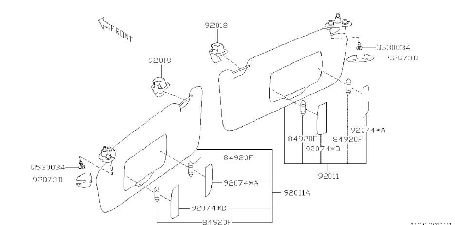 2011 subaru outback room inner parts - diagram 931_01