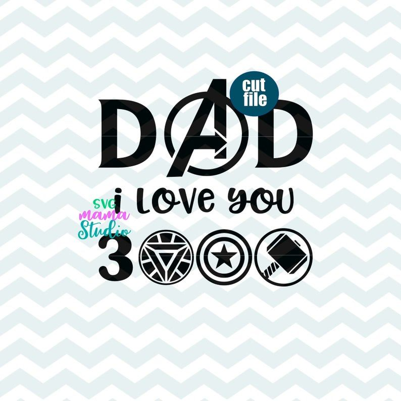 Download Father's day svg - Avengers svg, dxf, png, instant ...