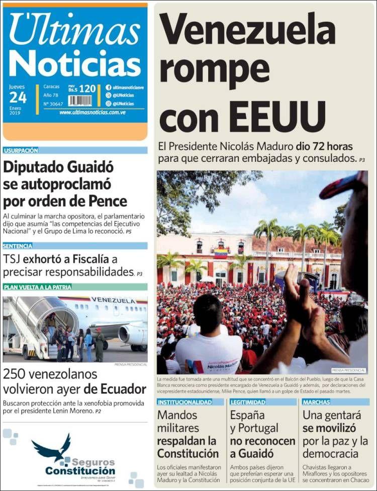 las últimas noticias de venezuela
