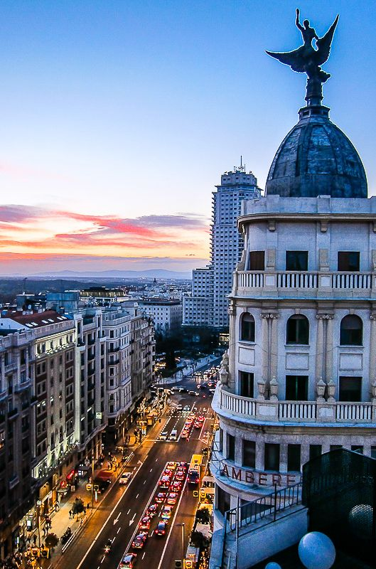 Views From A Rooftop In Gran Via Spain Photography Madrid Tours Visit Madrid