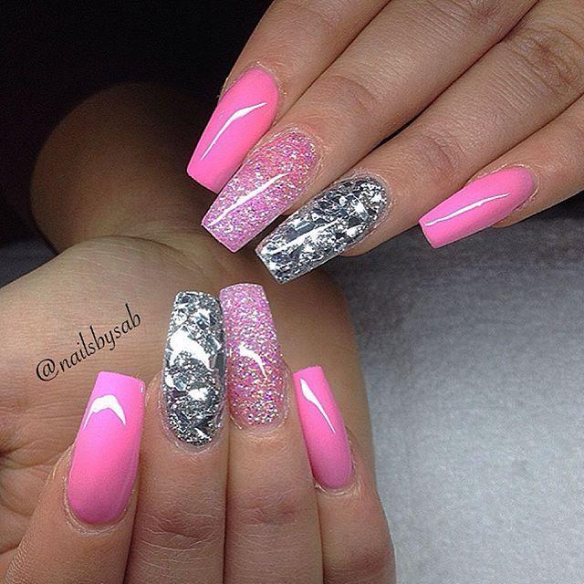 Nailsbysab User Profile Instagrin Cute Simple Nails Pink Nails Simple Nail Designs