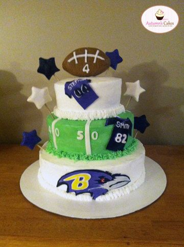 Pleasing Baltimore Ravens Birthday Cake With Images Football Themed Personalised Birthday Cards Epsylily Jamesorg