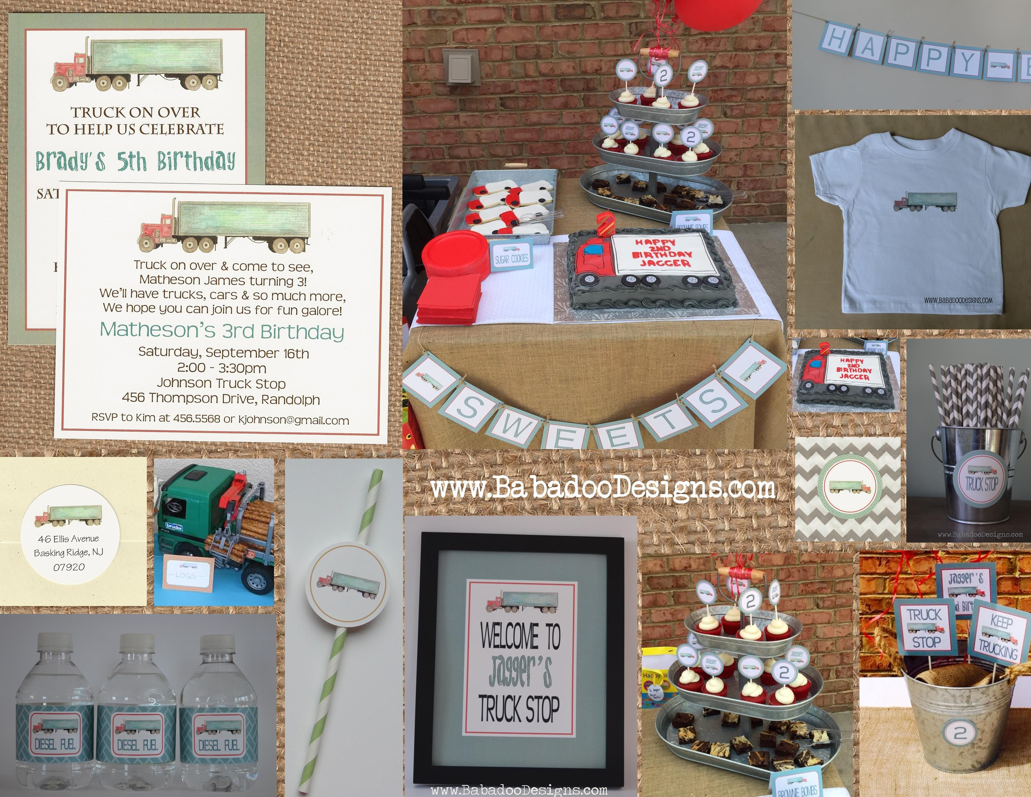Truck Party, 18-Wheeler Party, Birthday Party, Baby Shower ...