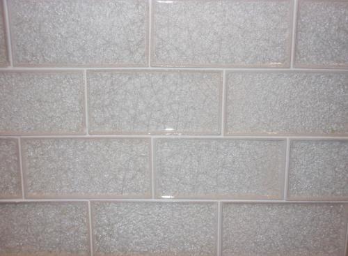 subway crackle glass tile bianco