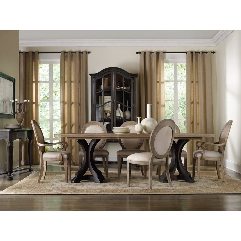 Corsica Extendable Dining Table Pedestal Dining Table Furniture Rectangular Dining Table