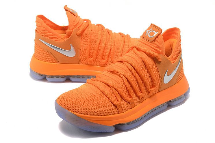 86d90ace60fb Nike Zoom KD 10 LMTD EP All Star Orange Silver Mens Original Basketball  Shoes AA4197-900