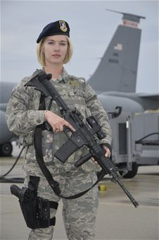 U.S. Air Force Airman 1st Class Courtney Metzger is a Security ...
