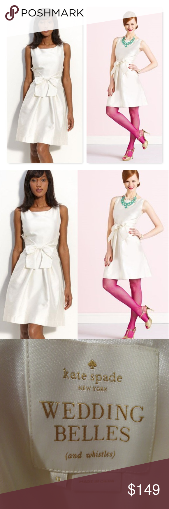 Kate Spade Wedding Belles Jillian Dress Bow Ivory Jillian Dress Dresses Dress With Bow