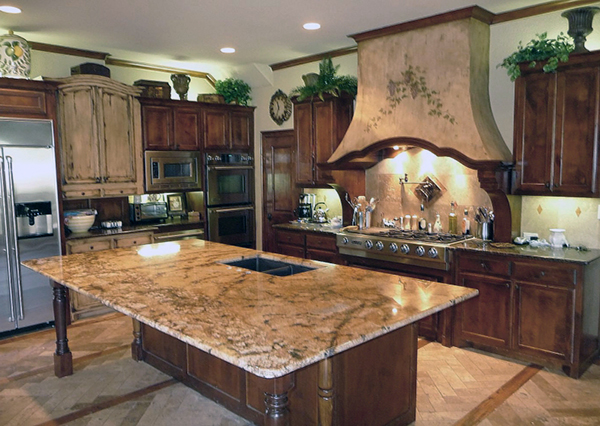 lapidus-granite-brown-cabinets | Home Inspiration ...