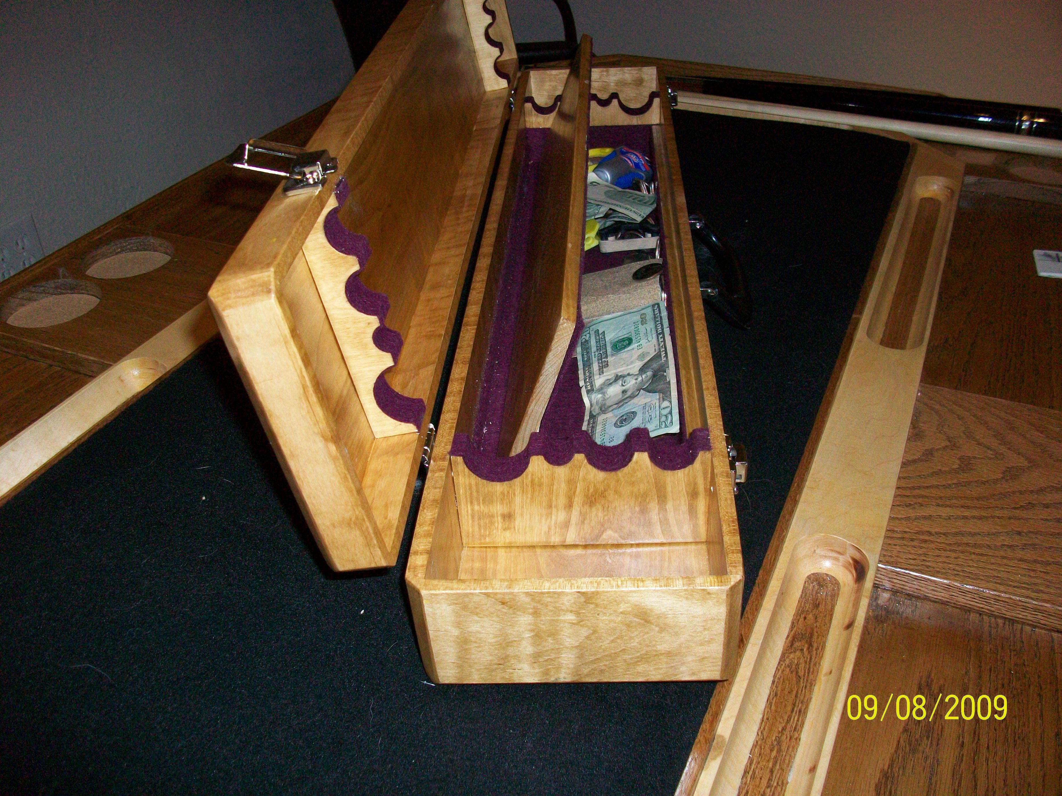 Cue Case With Hidden Compartment Cue Cases Woodworking Projects Billiards