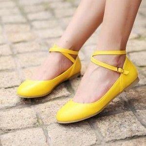 0e9b27aa5a97 Ballet flats 4 Yellow Flats