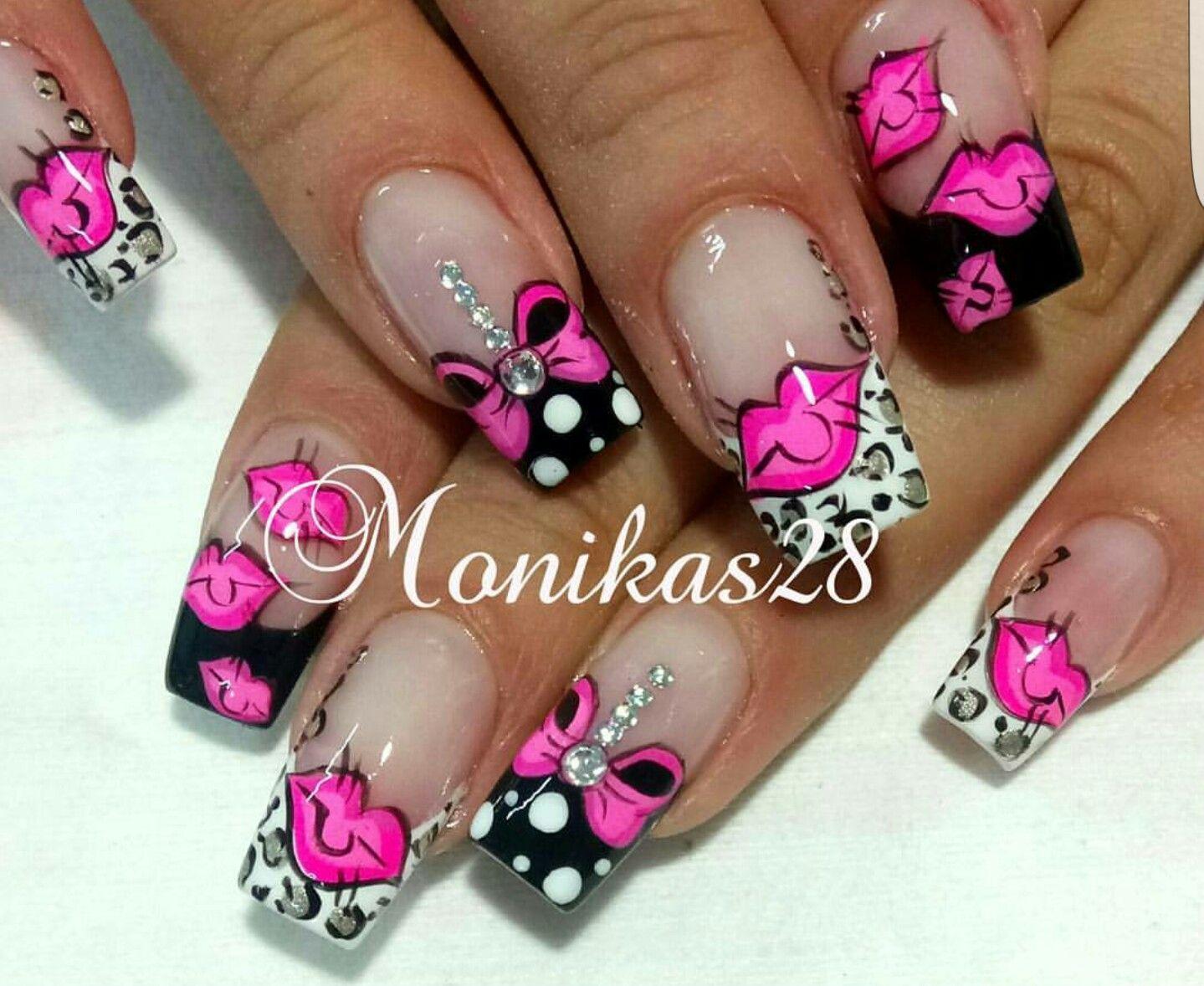Pin de Letty Rivas en Uñas   Pinterest   Diseños de uñas, Tips uñas ...