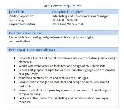 church graphic designer job description - Church Administrator Salary
