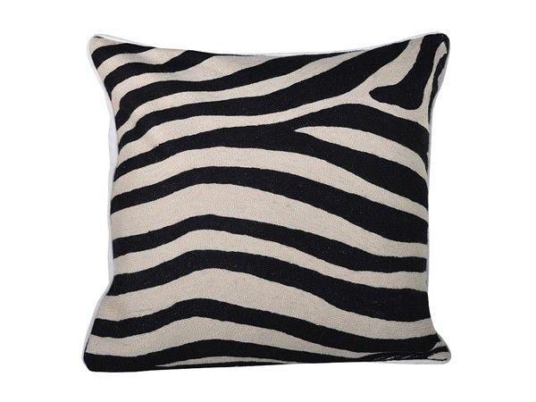 Putetrekk zebra/ håndsydd 50x50cm