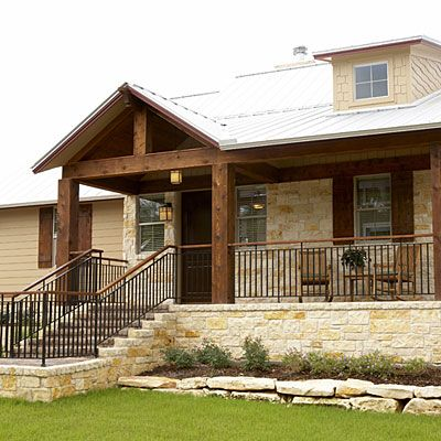 house with rock front dream farmhouse southern living house rh pinterest com stacked rock house front rock landscaping front of house