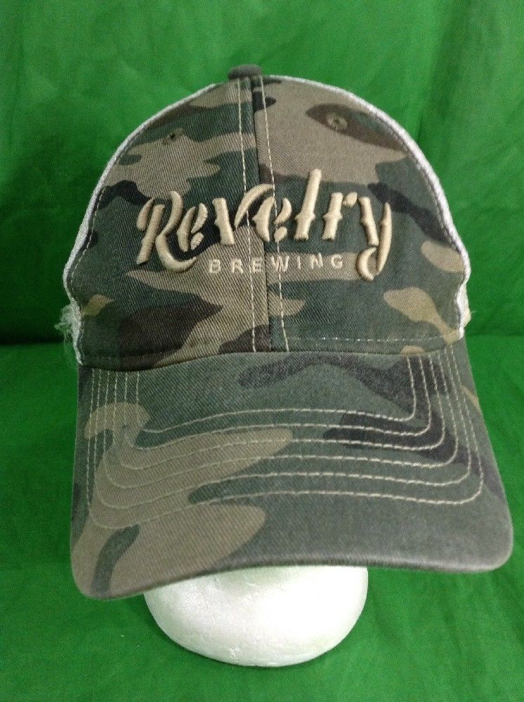 Revelry Brewing Beer Brewry Distressed Party Hat Trucker