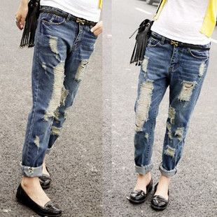 Jeans Woman Boyfriend Ripped Hole New 2014 Spring/Summer Brand ...