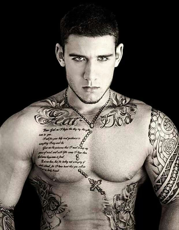 """This Will Be My Chest Piece. """"Fear God"""" Across The Top"""