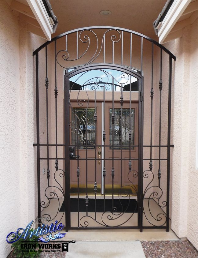 Gentry Wrought Iron Entry Gate Model Ce105d