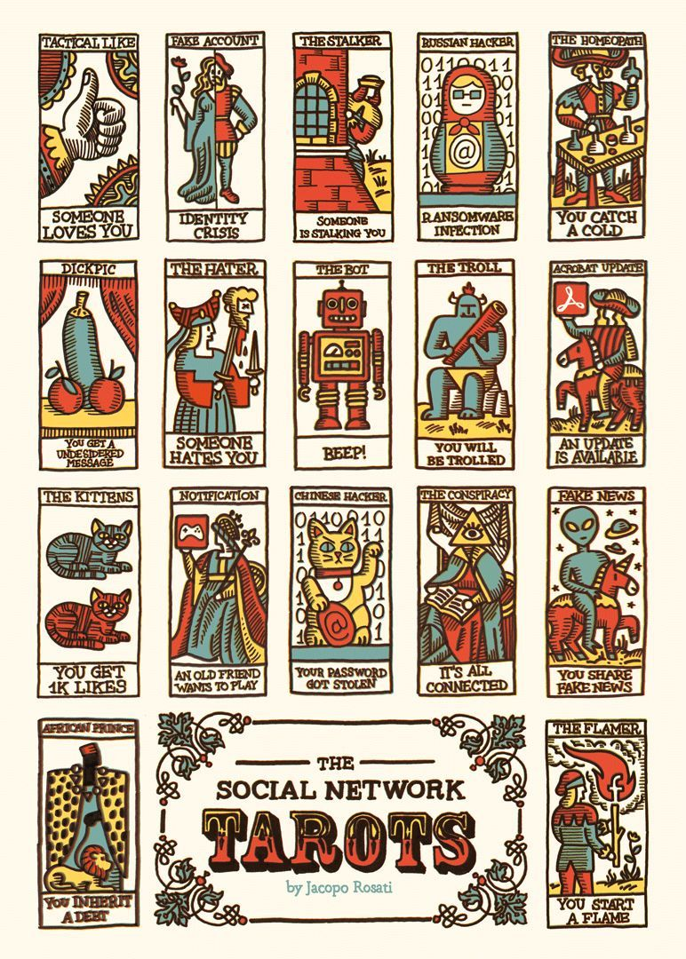 Social Media Inspired Tarot Cards Modern Tarot Cards Tarot Card