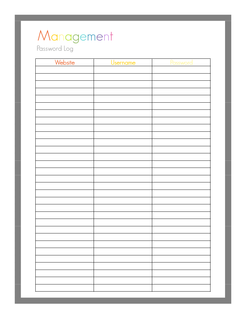 password log printable sheet1 pdf google drive good ideas