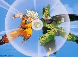 Resultado de imagen para goku peleando.