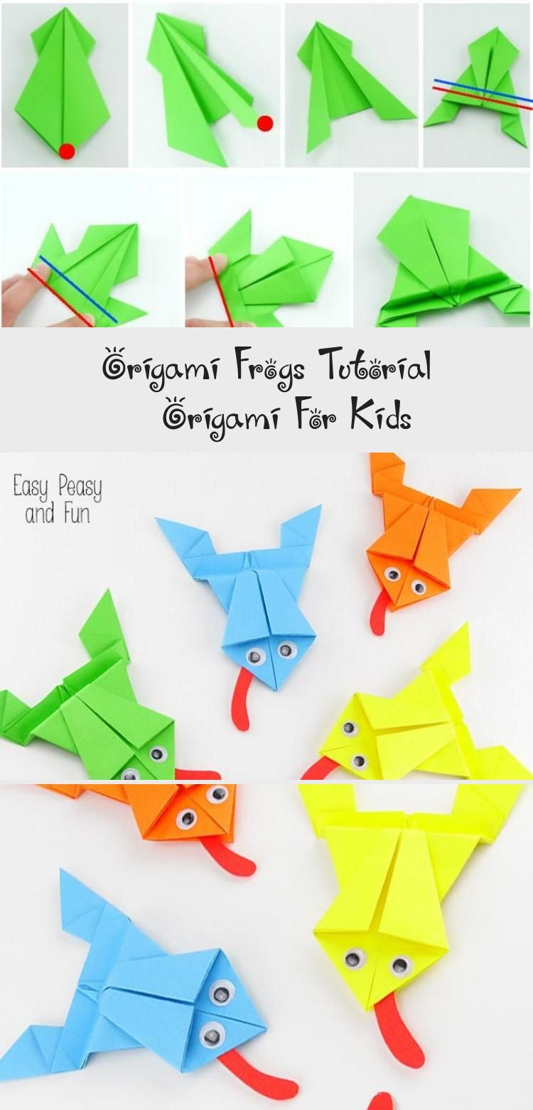 Photo of Origami Frogs Tutorial – Origami for Kids #origamiBall #origamiOwl #origamiCat #…