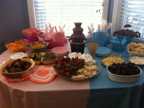 Food Gender Reveal Party Ideas