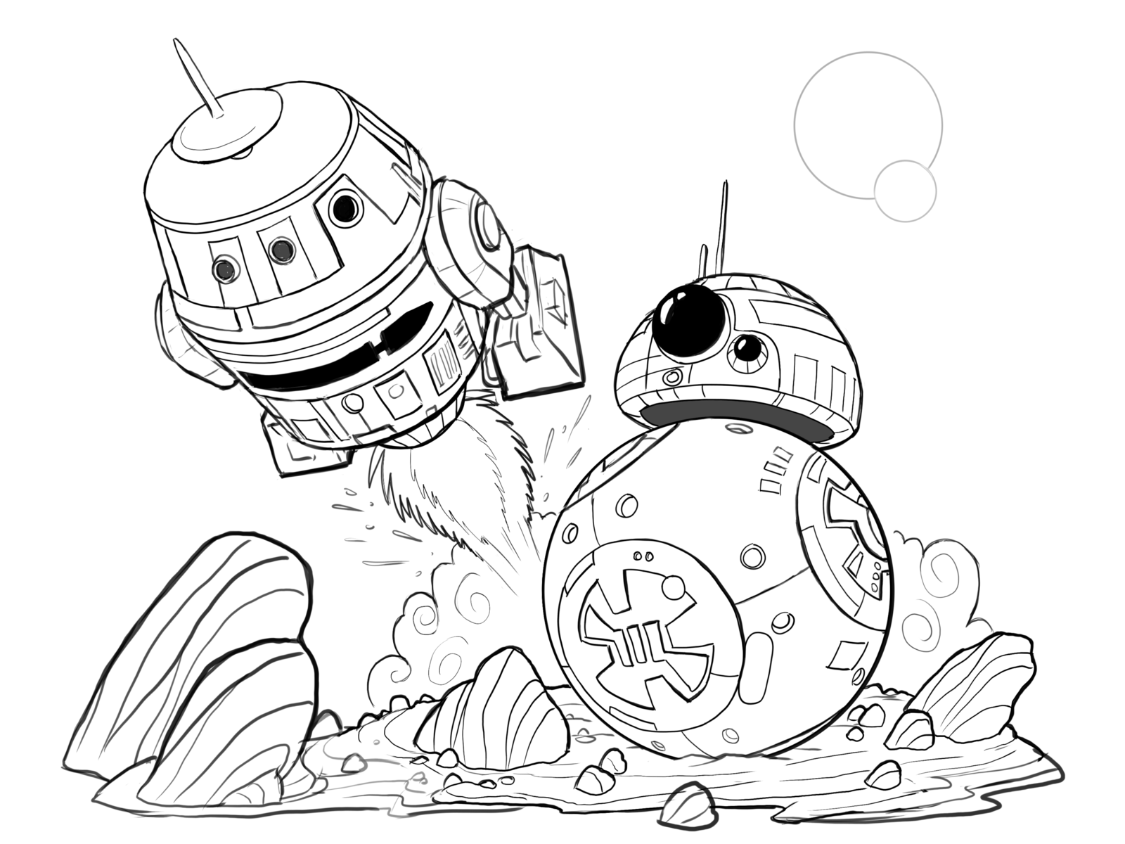 Hera and Chopper Star Wars Rebels WiP by cartoonstudy on DeviantArt