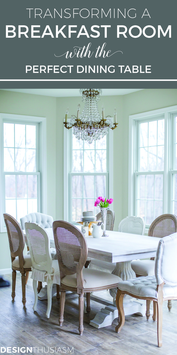 Transforming A Breakfast Room With The Perfect Dining Table