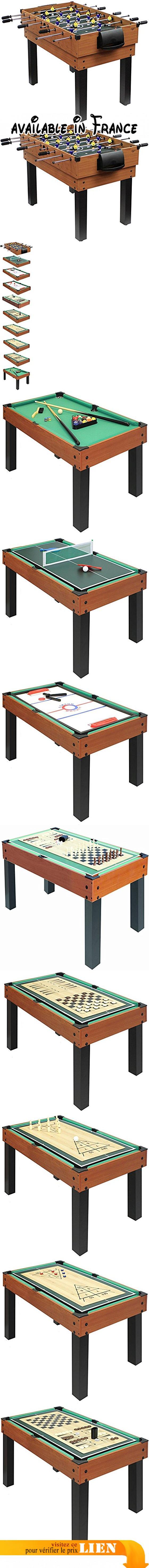 Table multi-jeux Choice XT Carromco 5 en 5, 0605. 5 jeux. pieds