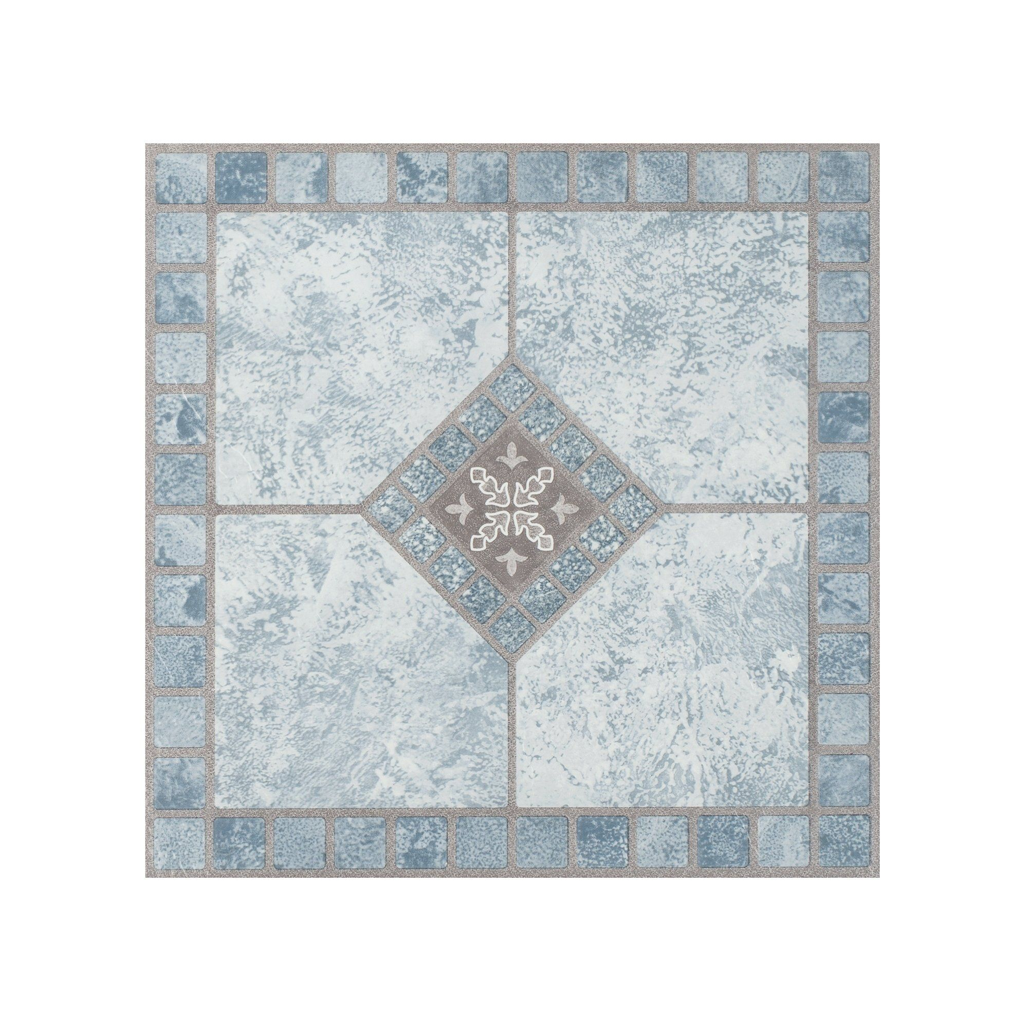 Portfolio 12x12 2 0mm Self Adhesive Vinyl Floor Tile Blue Diamond 9 Tiles 9 Sq Ft Achim Luxury Vinyl Tile Vinyl Tile Luxury Vinyl
