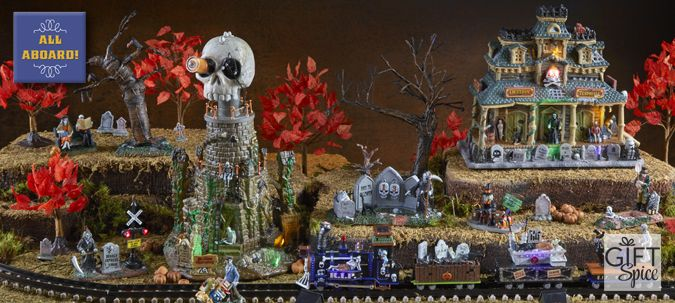 All Aboard collection on Gift Spice is centered around the Spookytown Train. So train lovers and enthusiasts should definitely get on board and shop this collection!