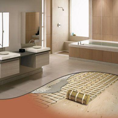 Momento Heated Floor Flooring Bathroom