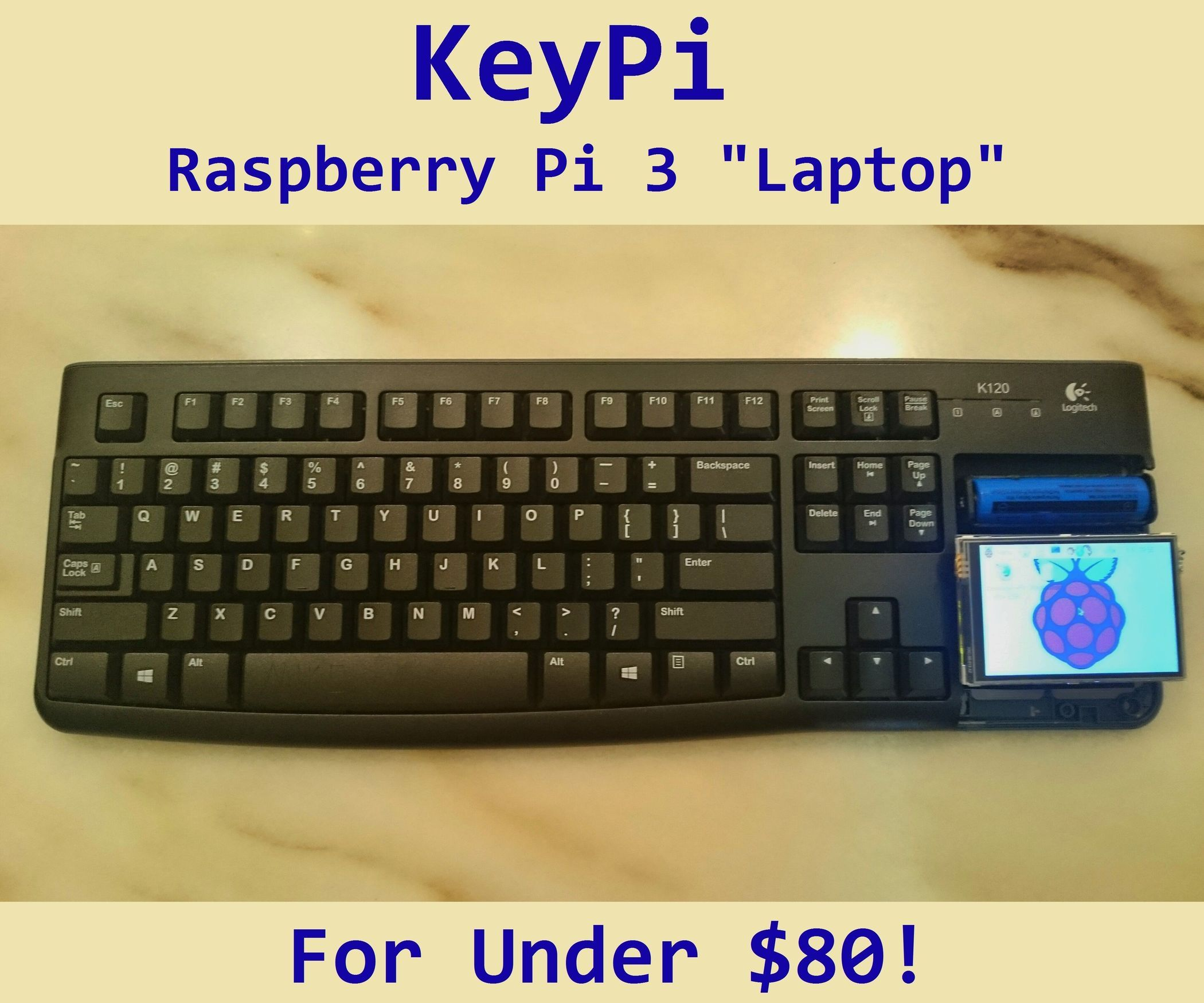 use laptop keyboard for raspberry pi 3