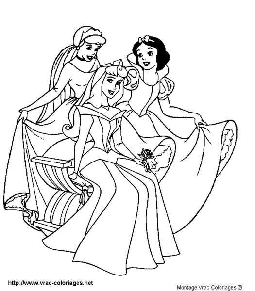 Coloriages Princesses Disney Imprimer Un 3 Coloriages Princesses