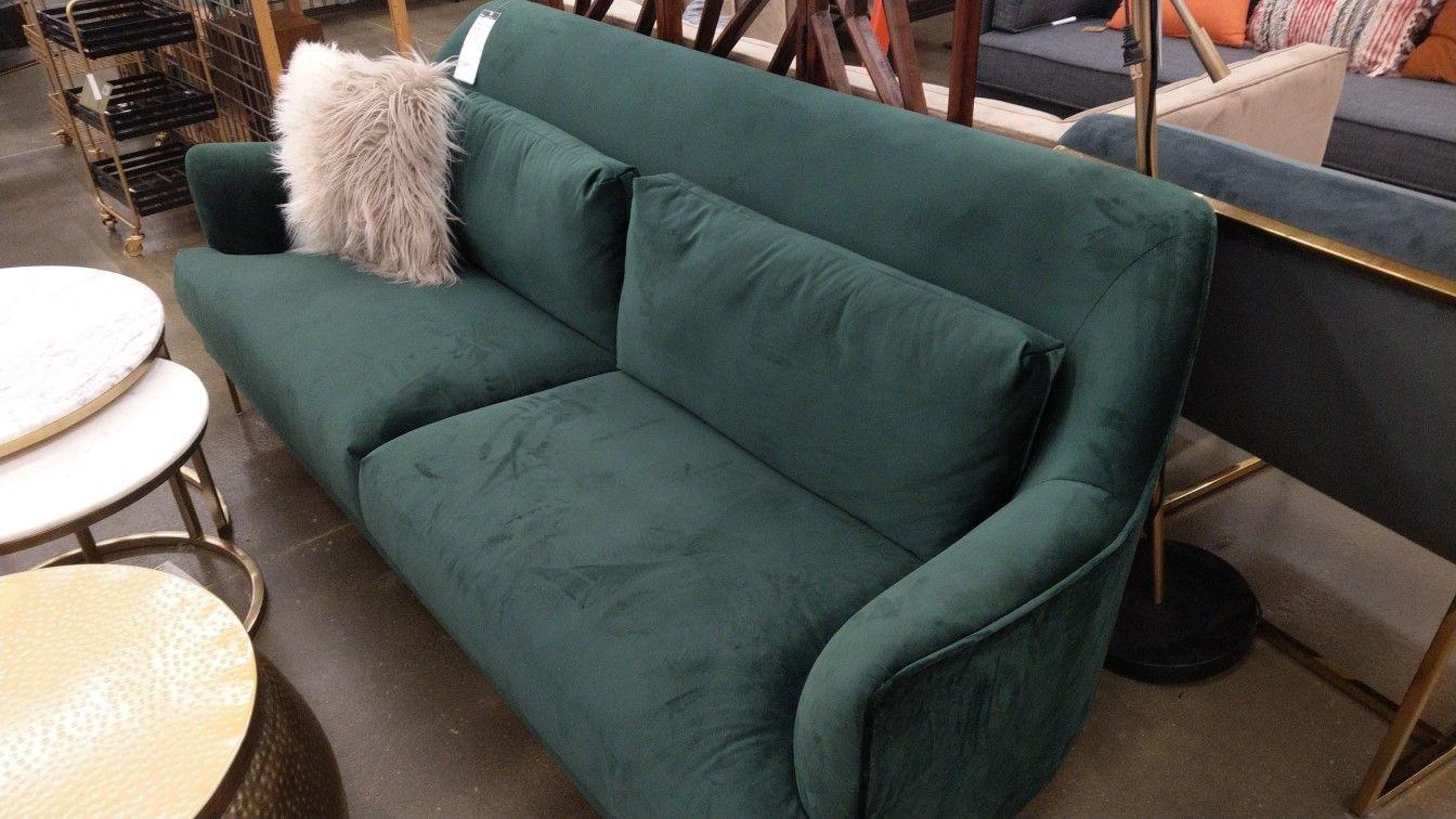 Green Velvet Couch At World Market Couch Velvet Couch Home