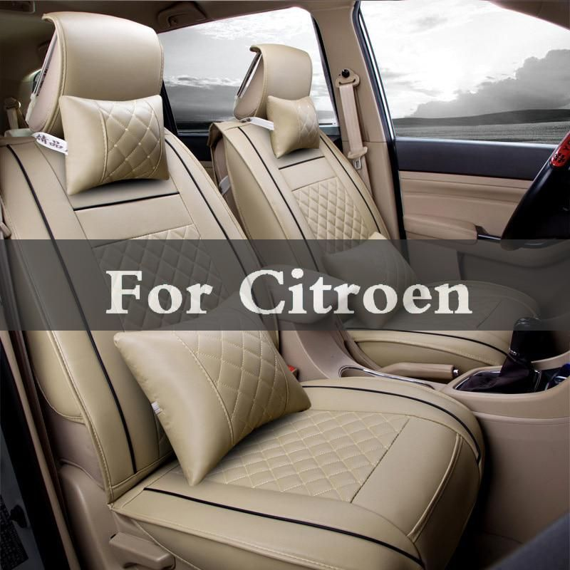 Car Pass Pvc Leather Seat Covers Universal Six Color Cushion Interior Accessories For Citroen C1 Aircross C5 C6 Cactus C2 C4 C3 Leather Car Seat Covers Leather Car Seats Car Seats