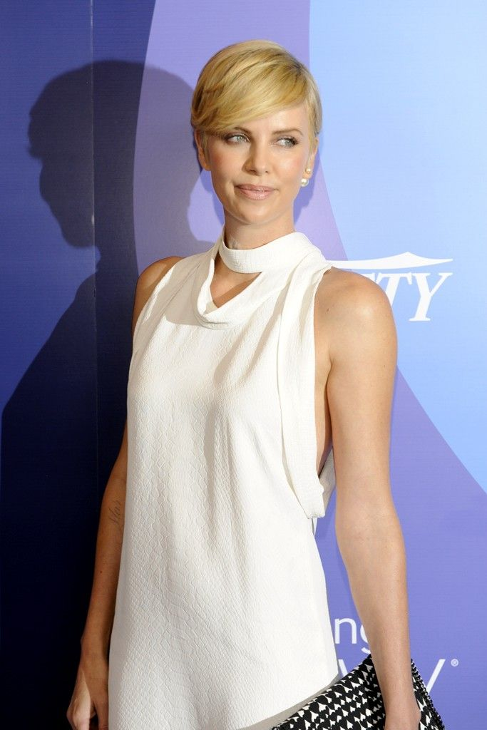 Charlize Theron in Stella McCartney. [Photo by Amy Graves]