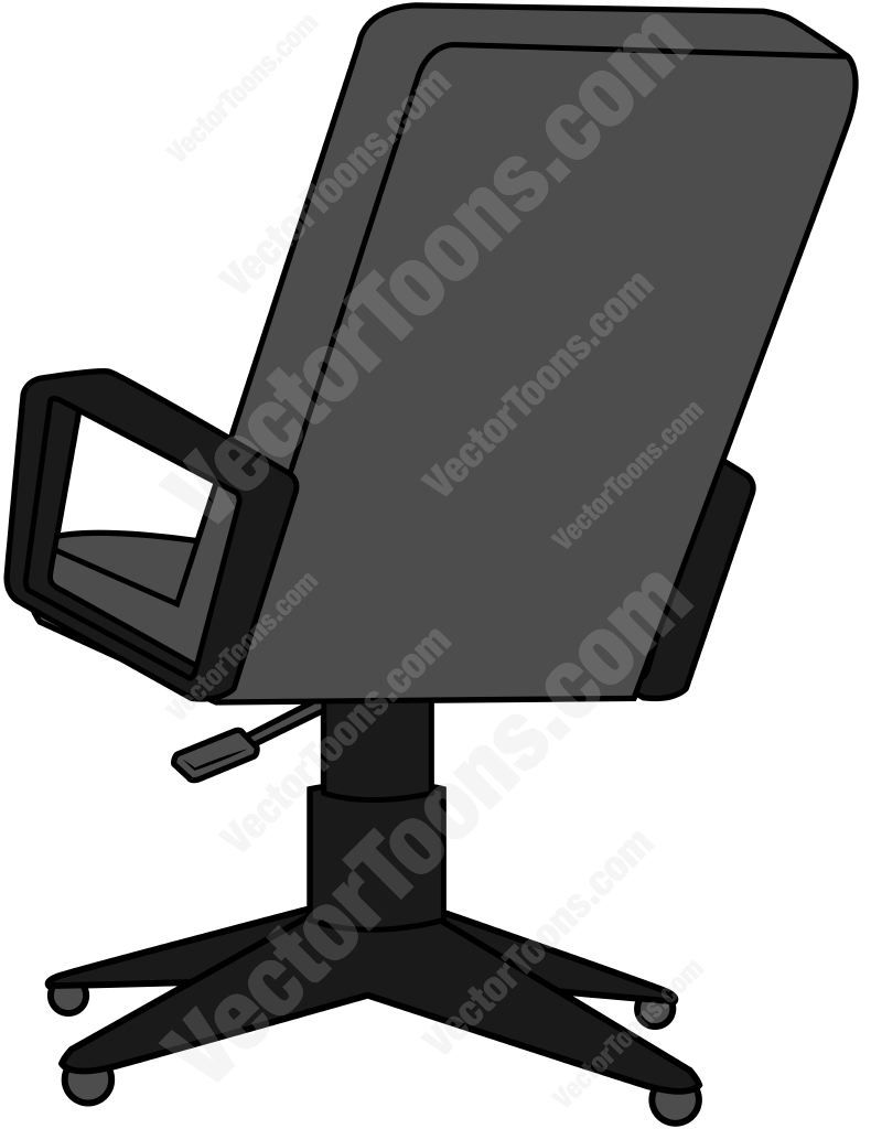 Back View Of An Office Chair Office Chair Chair Office