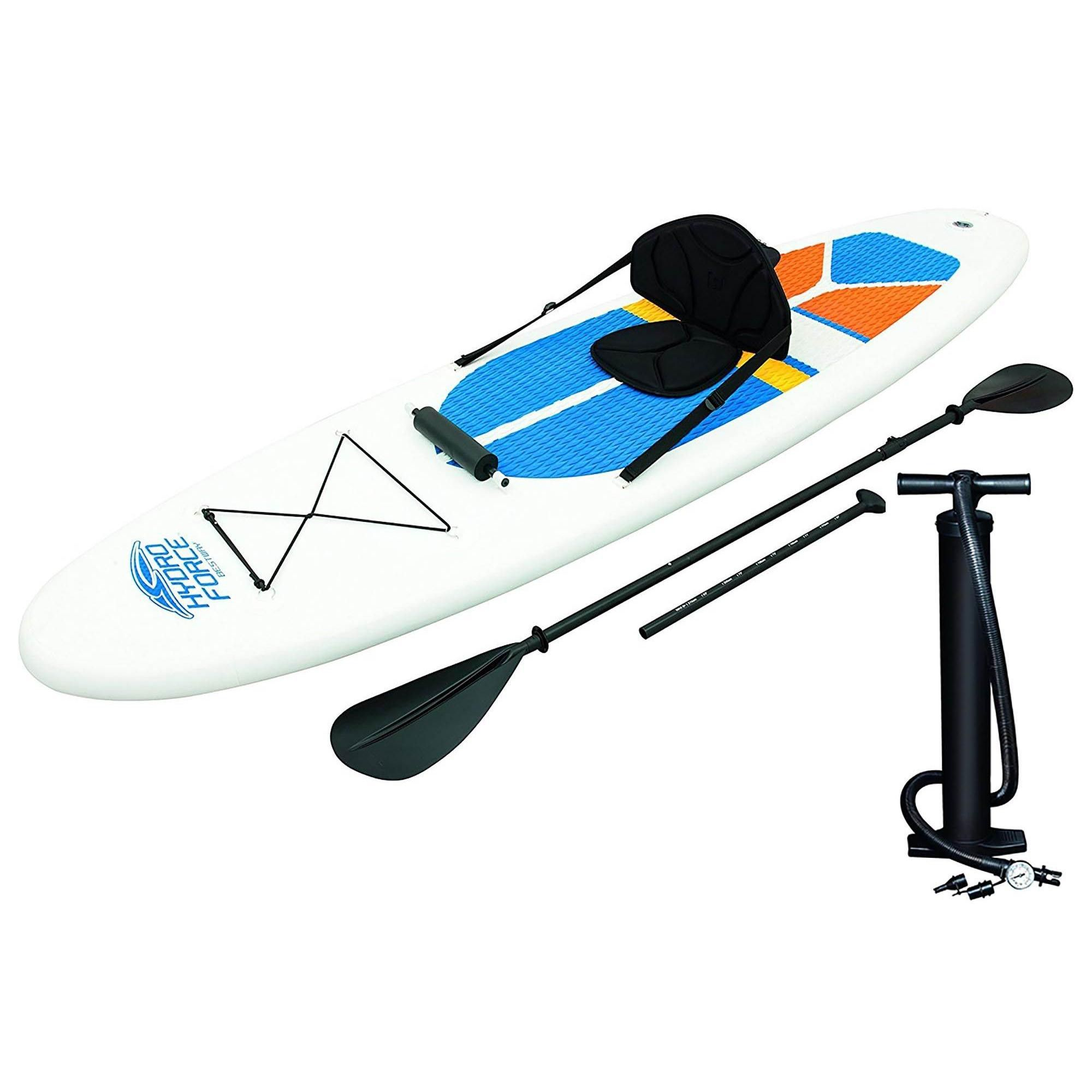Bestway Hydro Force 10 Foot Inflatable Stand Up Paddle Board Sup Kayak White In 2020 With Images Standup Paddle Inflatable Kayak Kayaking