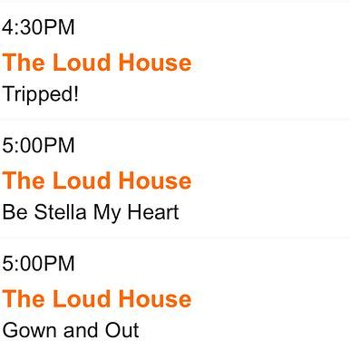 Todays Schedule Nickelodeon Theloudhouse Loudhouse Tlh